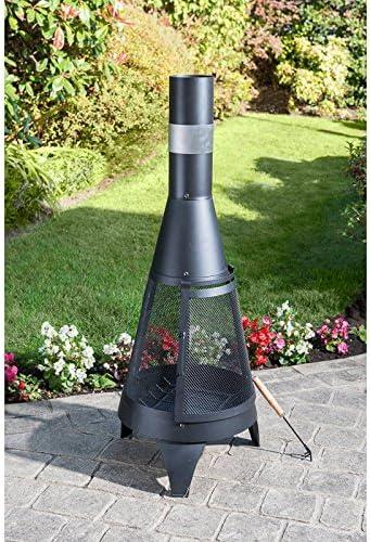 Etinas Fonte Acier Chiminea cheminée jardin Log Brûleur Cheminée Chauffage terrasse
