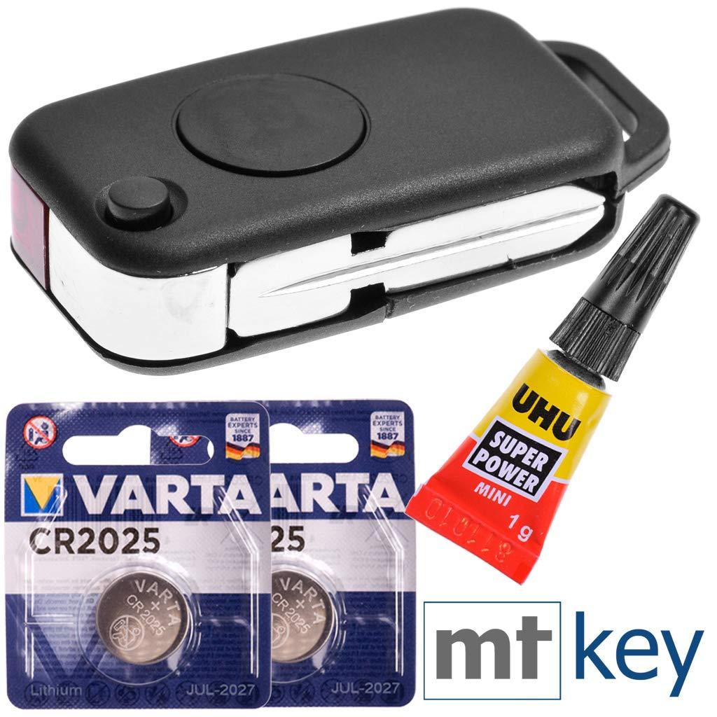 clés de Voiture kit Mercedes réparation de réparation de logements de Remplacement avec 2 Boutons + + Vide Batterie HU44 pour Mercedes Benz W168 W414 W903 R170 Chrysler Crossfire