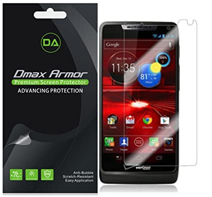 Dmax Armor [6-Pack] for Motorola Luge Screen Protector Anti-Bubble High  Definition Clear Shield - Lifetime Replacement