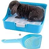 kathson Rabbit Litter Box, Rat Litter Tray Ferret Potty Training Corner Litter Pan Cage Cleaner for Chinchillas Guinea Pigs