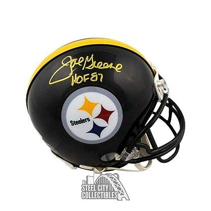 34c50abec85 Joe Greene Signed Helmet - HOF Mini COA - JSA Certified - Autographed NFL Mini  Helmets