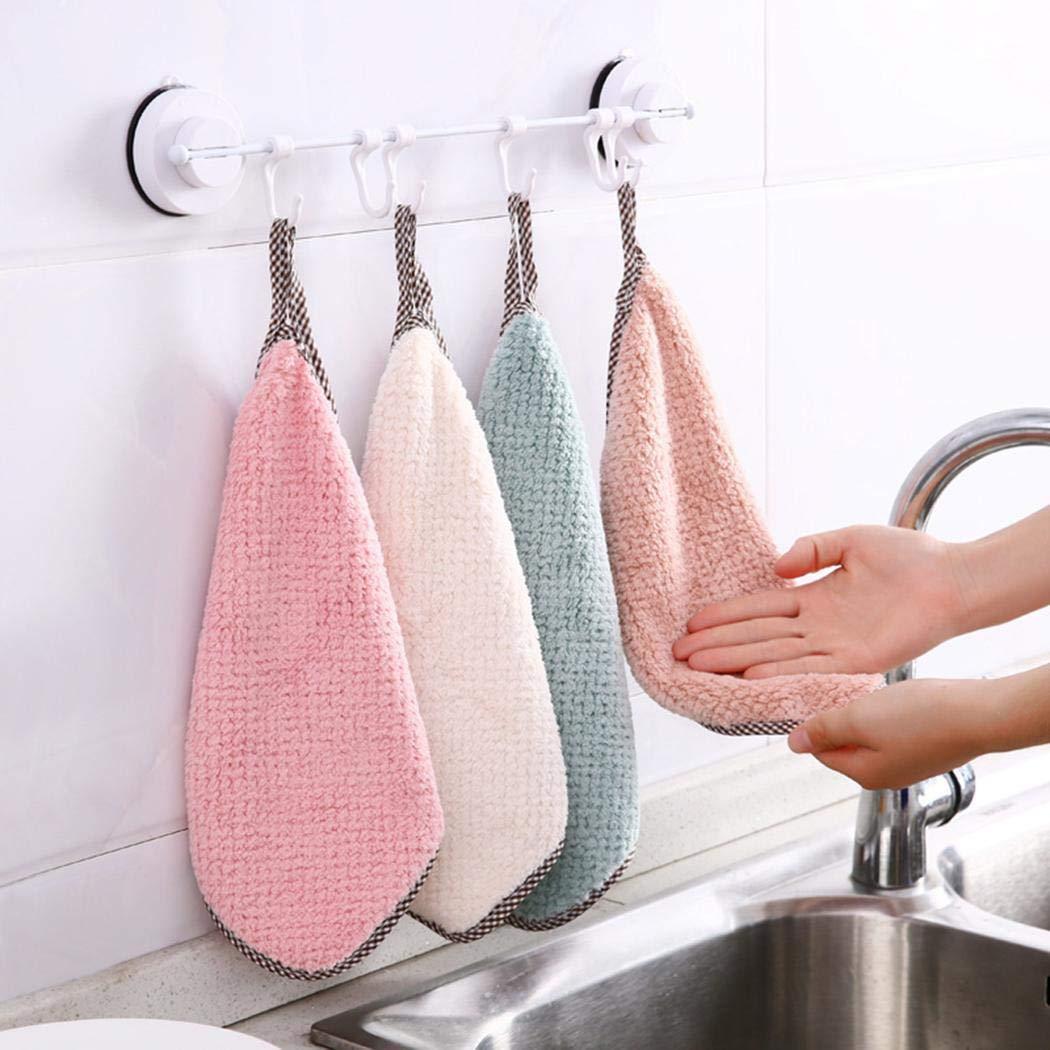 yagot Straccio da Cucina dishcloths Doppio Lato Coral Fleece Dish Lavaggio Panno di Pulizia Asciugamano Rag Wipe Straccio Assorbente Casa