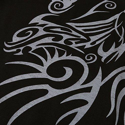 Sweatshirt Automne À Imprimé Sweat Tops Capuche over Hiver Pulls Grande Pour Manches Taille Noir Hommes Levifun Longues Homme Sport Rayé Pull Hooded w75qxH