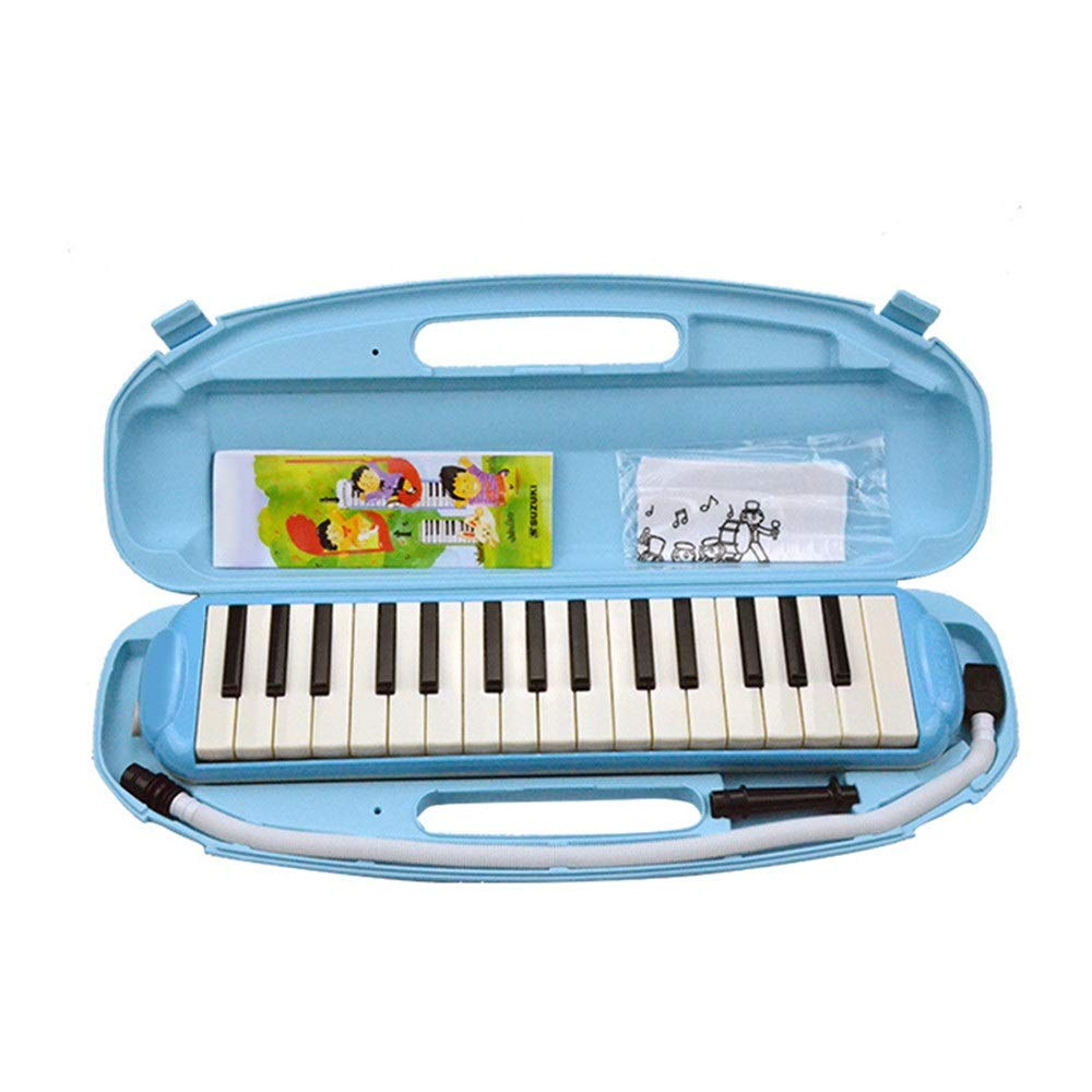 Melodica Musical Instrument Durable Educational Kids 32 Keys Portable Pianica Melodica Musical Instrument With Carrying Bag Gift Toys For Music Lovers Beginners Mouthpieces Tube Sets Blue for Music Lo by Shirleyle-MU (Image #2)