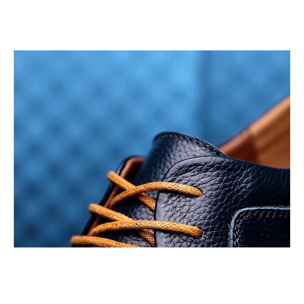 TYX-SS Scarpe Basse Basse Basse da Uomo in Pelle da Uomo d'Affari per Aiutare Il Primo Strato di Scarpe da Uomo in Pelle con Scarpe di Cuoio,A,42 1e3de1