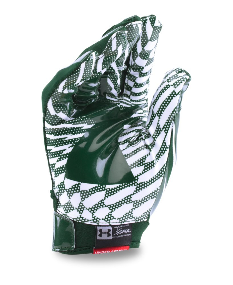 Under Armour Men's F5 Football Gloves, Forest Green/White, Small by Under Armour (Image #2)