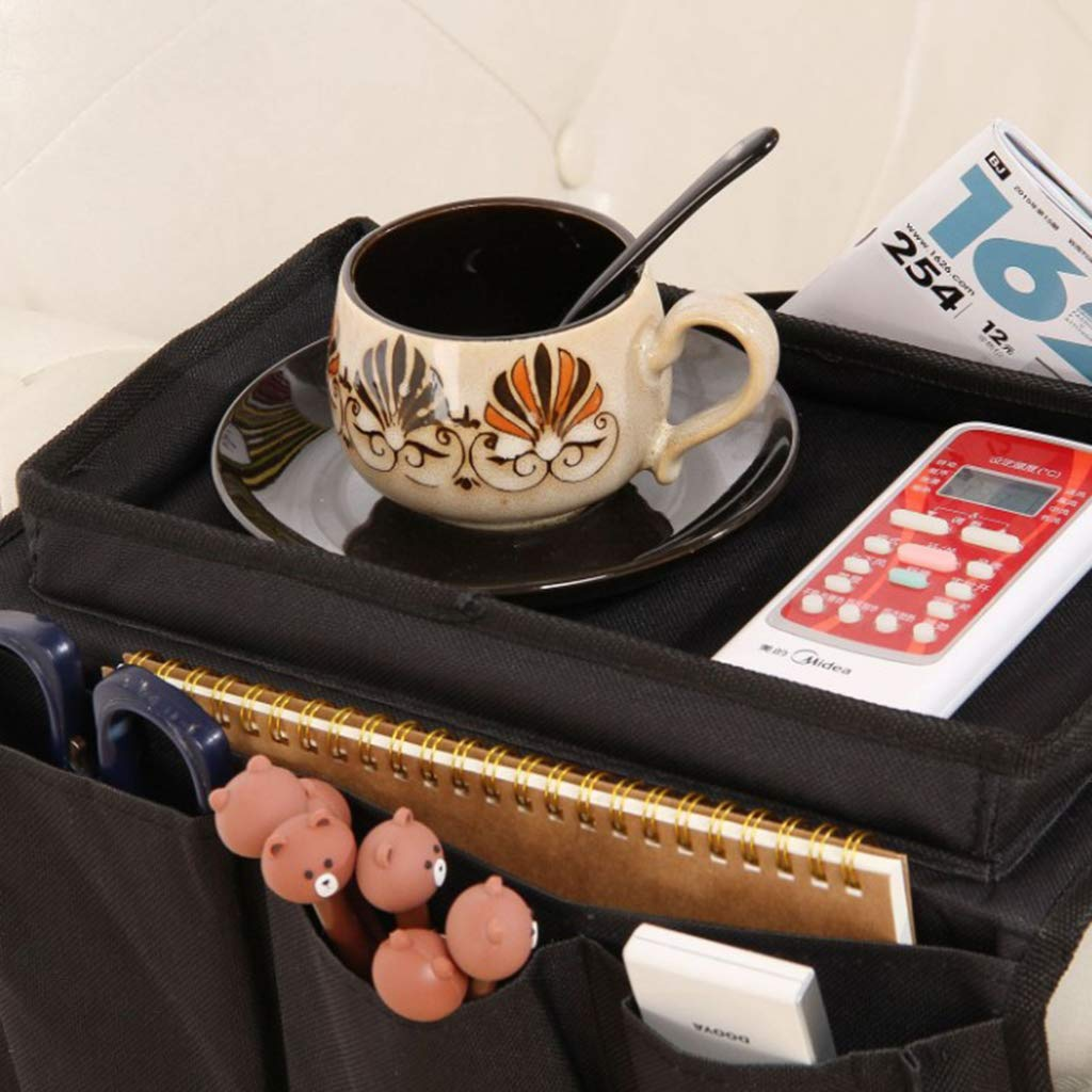 Coffee Armchair Caddy for Smart Phone Remote Control Book LOVIVER Waterproof Couch Sofa Chair Armrest Organizer Tray /& Pockets Magazines