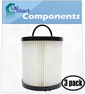 UpStart Battery 3-Pack Replacement for Eureka AS1051A Vacuum Dust Cup Filter - Compatible with Eureka DCF-21 Filter
