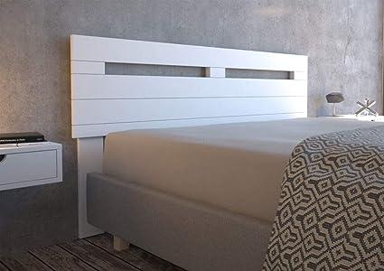 LA WEB DEL COLCHON - Cabecero de Madera Rústico Provenza para Cama de 135 (145 x 90 cms.) Blanco nórdico | Cabeceros Madera | Dormitorio Matrimonio | ...