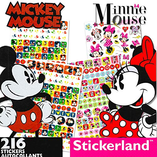 Disney Mickey Mouse Sticker Pad and Minnie Mouse Sticker Pad Set (Over 400 Stickers total!) -