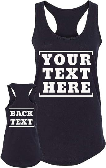 Customized Ville Camisetas Personalizadas de 2 Lados - Parte Delantera y Trasera - Diseña tu Propia Camiseta - Camisetas Personalizadas