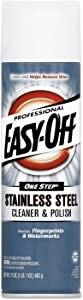 Easy-Off Professional Stainless Steel Cleaner & Polish, 17 oz Can, For Grills Ovens & Appliances