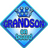 TROPHY GRANDSON Non Personalised novelty baby on board car window sign.