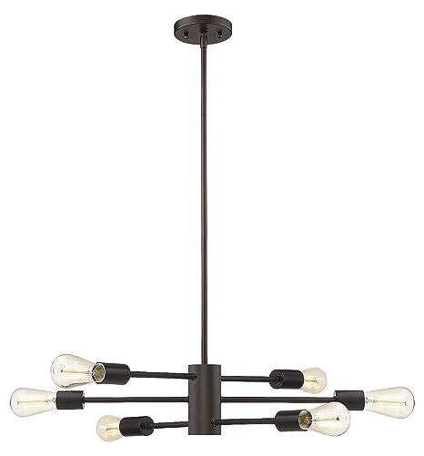 Amazon.com: Sonora - Lámpara de araña (6 luces, en bronce ...