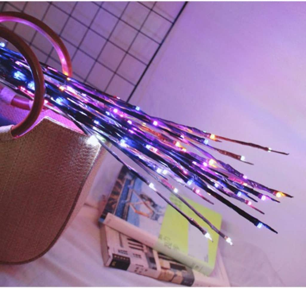 Blossom Twig Branch Light 20 Warm White LEDs Tree Branch Led Lights Battery Powered Decorative Light for Home Wedding Birthday Holidays Party Christmas Decoration Haluoo Festival Lights