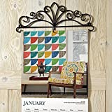 "Scrolled Metal Wire Calendar Holder - 14"" Wide calendars including large 12"" X 12"" size calendars"