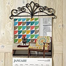 "Scrolled Metal Wire Calendar Holder - 14"" Wide calendars including large 12"" X 12"" size calendars"