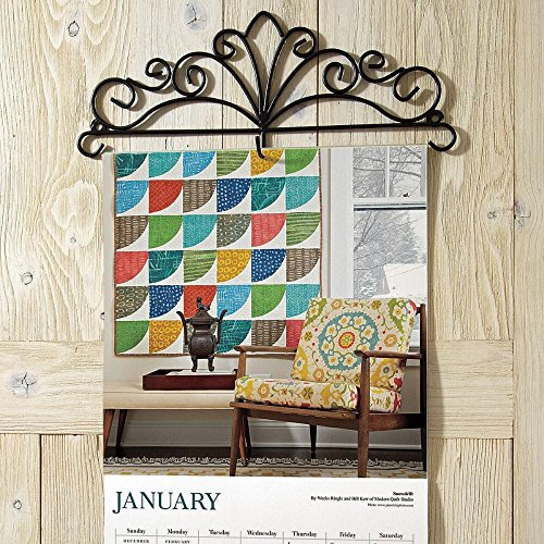 Scrolled Metal Wire Calendar Holder - 14