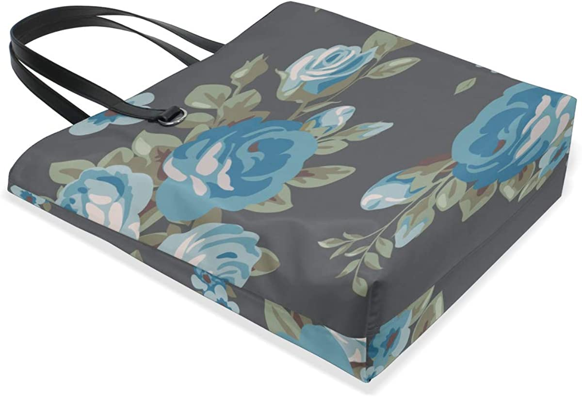 Designer Shoulder Bag Handle Satchel Waterproof Tote Bag Purse Messenger Bags Bag Organizer For Tote Blue Retronatural Flower Camellia Printing Designer Tote Bag For Women