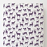 Carousel Designs Aubergine Deer Toddler Bed Sheet Fitted