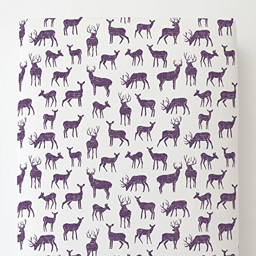 Carousel Designs Aubergine Deer Toddler Bed Sheet Fitted by Carousel Designs