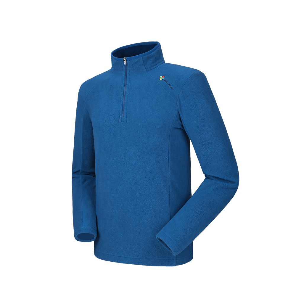 Camel Men's Fleece Sweatshirt Pullover Jacket Lightweight Sweater Shirt Outdoor Long Sleeve Jacket with Zip Blue XXXL by Camel
