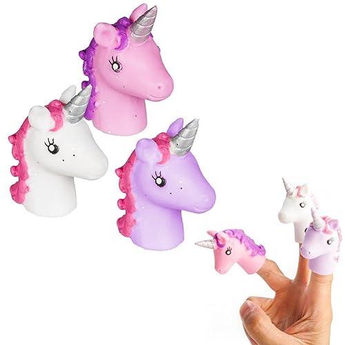 Une marionnette à doigt licorne - jouet pour main rigolo - Unicorn finger puppet