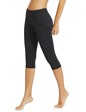 Amazon.com: Baleaf Women's Yoga Workout Capris Leggings Side ...