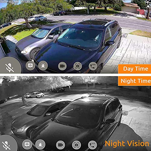 Outdoor Security Camera Wireless, Battery Operated Surveillance Camera, Night Vision, Motion Detection, Waterproof, See and Talk, Magnetic Mount, Adjustable Angle, Cloud Edge Security Indoor Camera