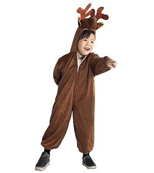 AN74 tamaños de 2-3 años ciervos traje para bebés y niños traje del carnaval de trajes de carnaval de disfraces