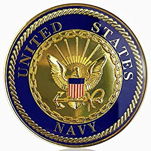 U.S. Navy Car Emblem Military Seal Auto Decal Badge Commemorative Gifts by Xsong