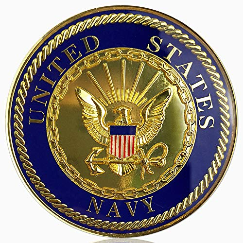 - U.S. Navy Car Emblem Military Auto Decal Badge Commemorative Gifts