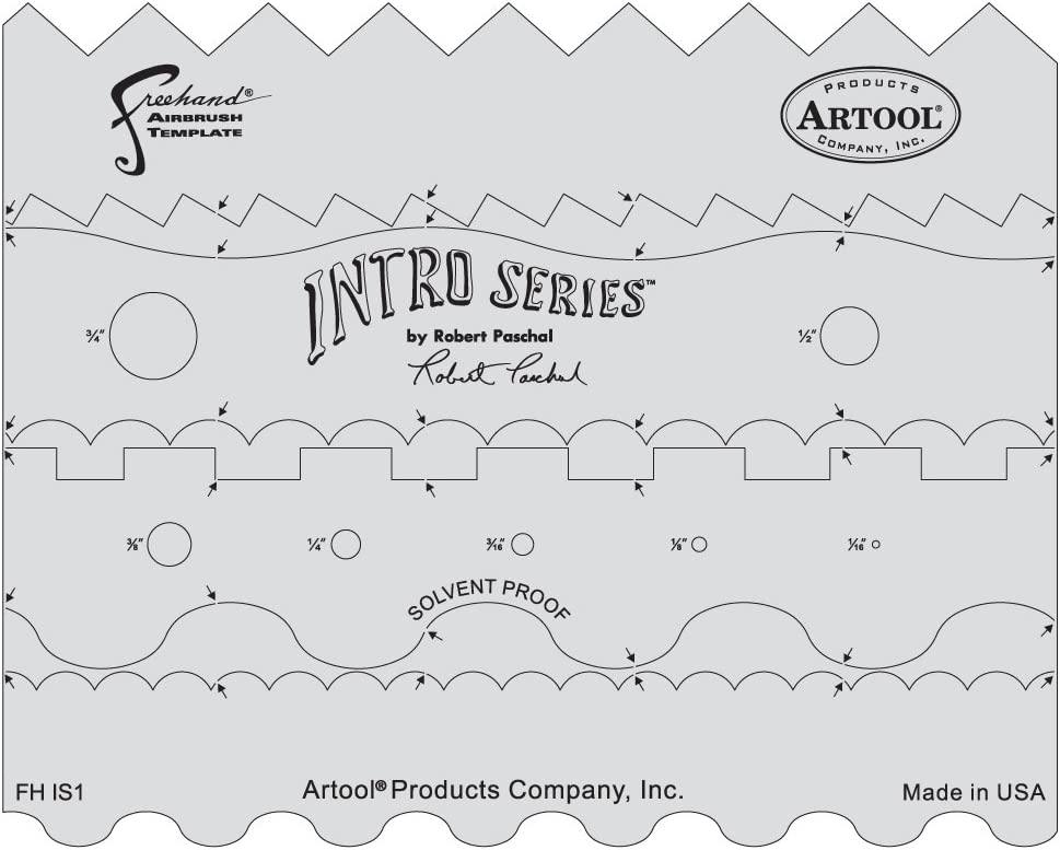 Artool Freehand Airbrush Templates, Intro Series Template Set