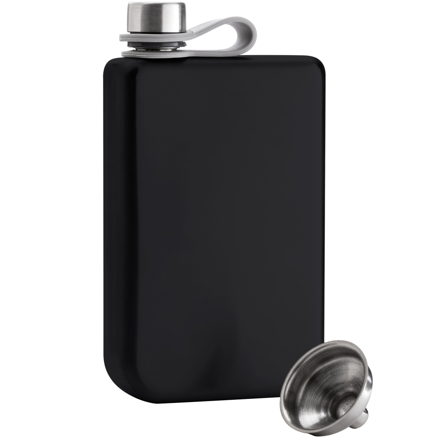 8oz Hip Flask & Funnel Set Stainless Steel Pocket Container for Drinking Liquor e.g. Whiskey, Rum, Scotch, Vodka | Rust & Leak Proof Discreet Alcohol Canteen, can be Engraved