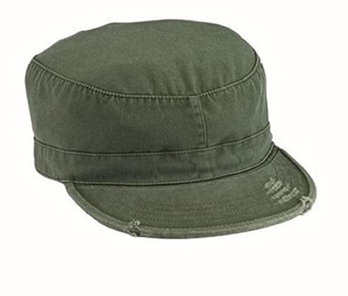 223d18a98eb Amazon.com  4508 olive drab Vintage fatigue Cap (Large)  Military ...