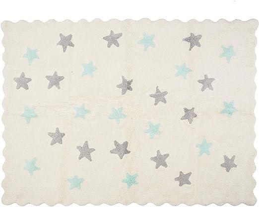 Lilipouce Alfombra Infantil algodón Estrellas Eden, Tela, 120x160 ...