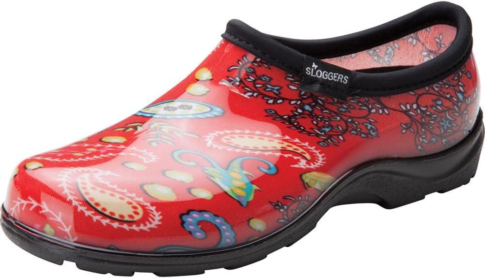 Sloggers 5104RD07 Size 7 Paisley Red Women's Waterproof Rain & Garden Shoe