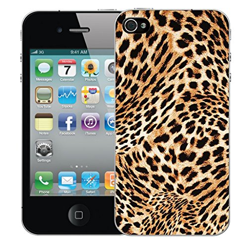 Mobile Case Mate iPhone 4s Silicone Coque couverture case cover Pare-chocs + STYLET - Cheetah Print pattern (SILICON)