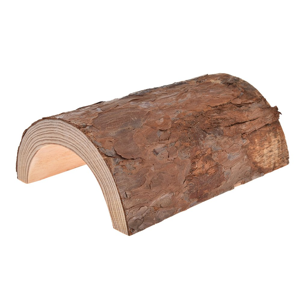 Yunt Wooden Hamster House Log Hideout House Toy Chew Toys Mouse Rat Cage Small Animal House