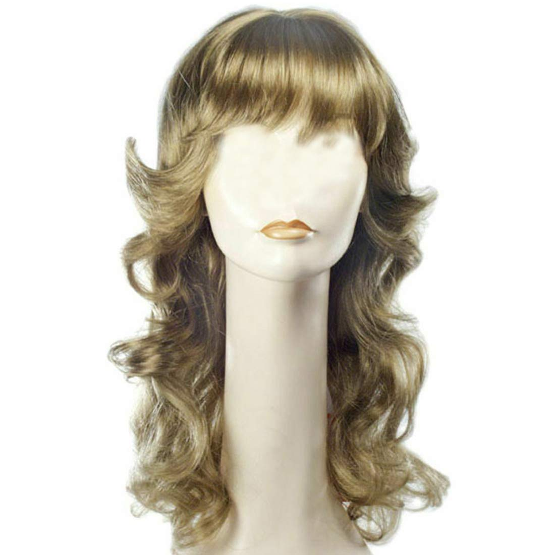 70s Headbands, Wigs, Hair Accessories Angel Farrah Fawcett Color Strawberry Blonde - Lacey Wigs Womens 70s Feathered Model Roller Girl Farah Poster Bundle Costume Wig Care Guide $38.87 AT vintagedancer.com