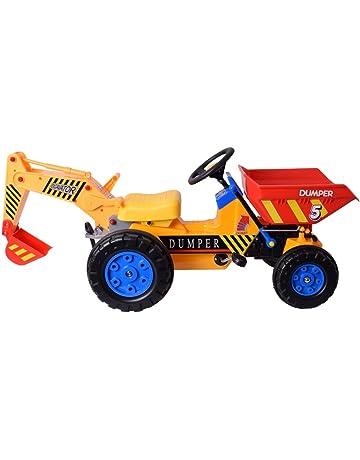 te-trend XXL Vehículo Tractor Vehículo Construcción Volquete excavadora pala Mulde para entran para niños