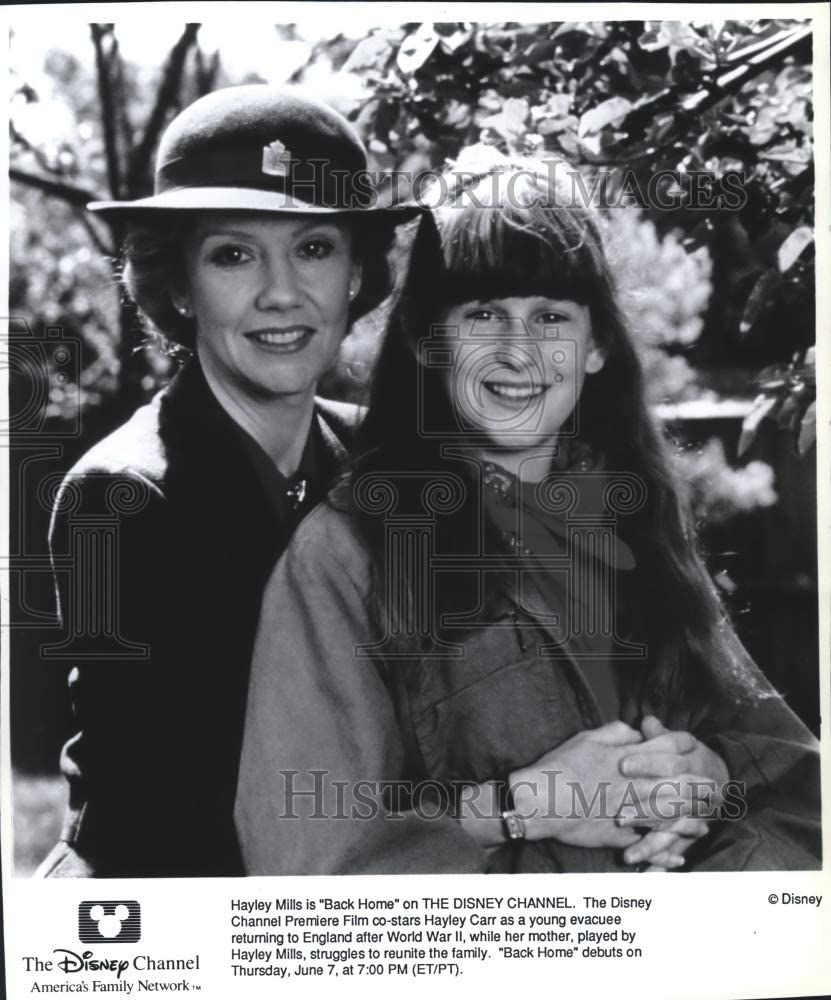 Historic Images - 1990 Press Photo Hayley Mills and Hayley Carr Star in Disney's 'Back Home'
