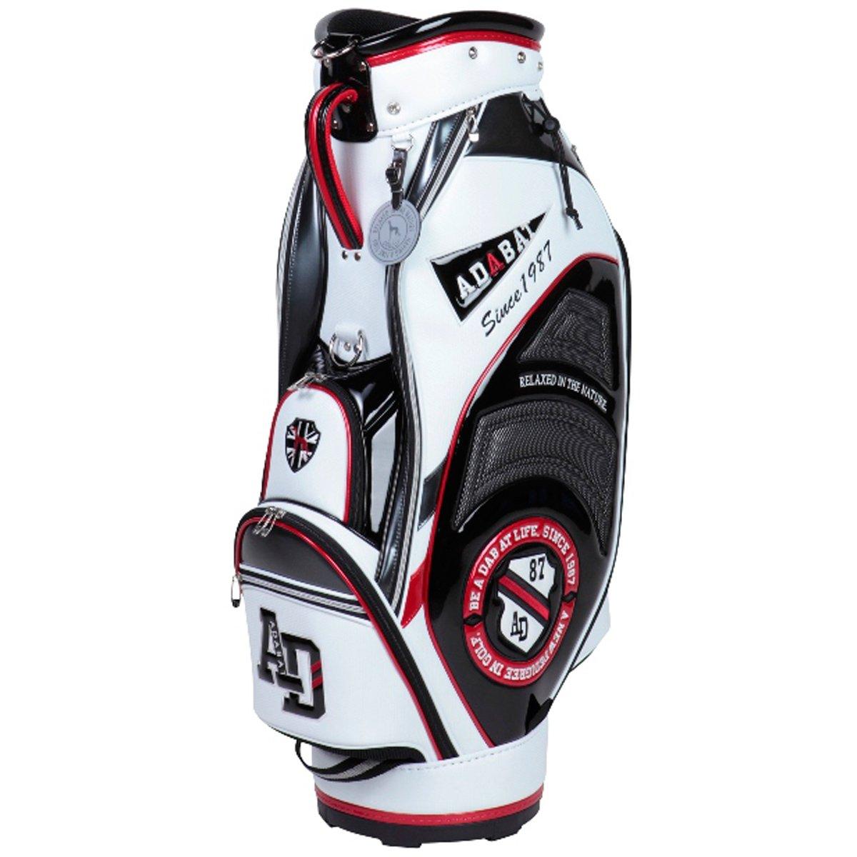 アダバット(Adabat) メンズ ゴルフ キャディバッグ (ABC303WG) ホワイトXブラック 9 B077XFRSX2