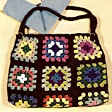 Vintage Crochet PATTERN to make - Granny Motif Purse Tote Work Bag. NOT a finished item. This is a pattern and/or instructions to make the item only.