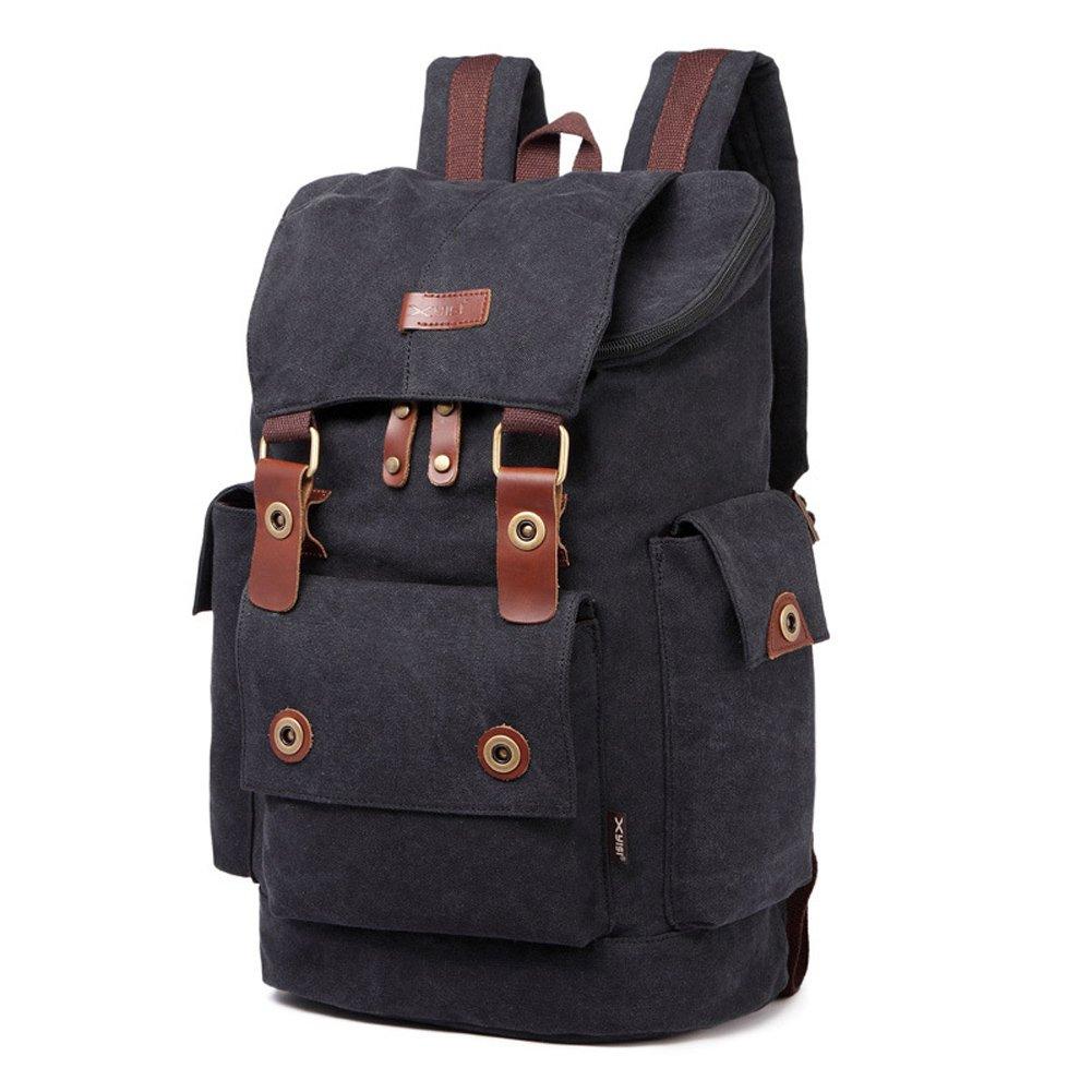 New Men/'s Large Travel Backpack Laptop Bag School Vintage Satchel Outdoor Bag