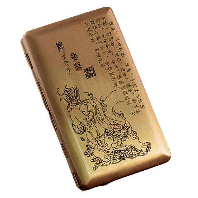 Panda Legends Estuche para cigarrillos de cobre Estuche para ...