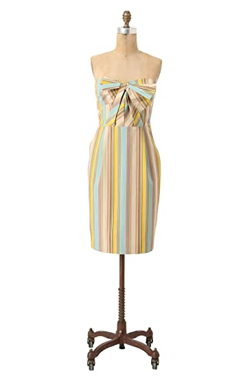 Moulinette Soeurs Straightaway Jacquard Dress Multi Color Stripe