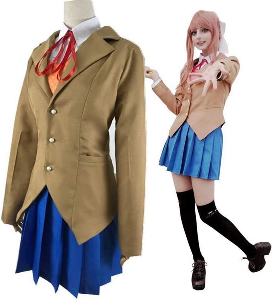 Sayori Yuri Natsuki Monika Uniform Costume UK  Doki Doki Literature Club Cosplay