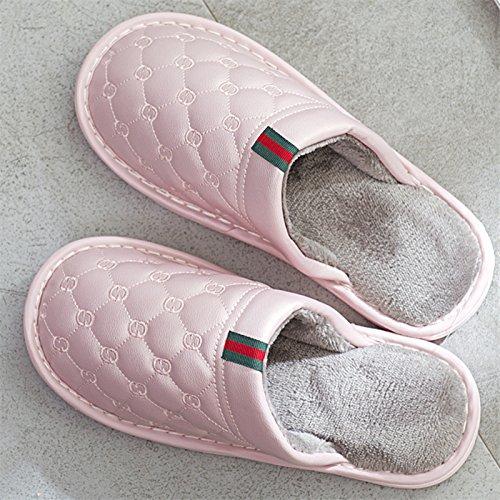LaxBa Lhiver au chaud, lhiver Chaussons Chaussons moelleux Accueil chaleureux en hiver, chaussures antiglisse Chambre Rose43-44 chaussons pour pieds 42-43