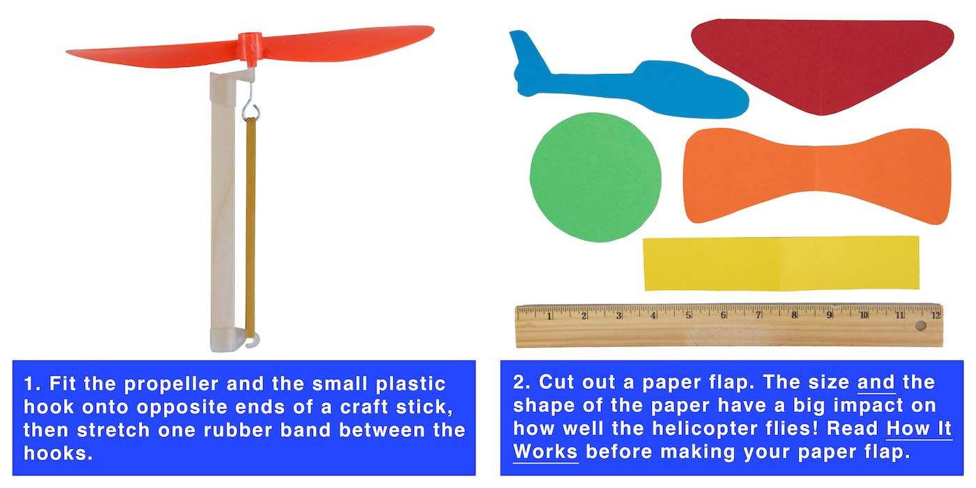 YouMake 10-Pack Rubber Band Helicopter Kit - DIY STEM Project for Kids - Comes with Instructions, Plastic Propellers, and More! by YouMake (Image #7)